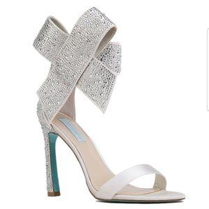 Blue by Betsey Johnson Rhinestone Wedding Heels